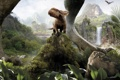 Картинка долина, папоротники, Walking with Dinosaurs, Ceratopsia, Прогулки с Динозаврами, Protoceratops, водопад