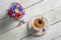 Картинка чашка, кофе, цветы