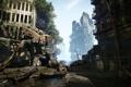 Картинка город, Робот, джунгли, разрушение, руины, Crysis 3