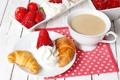 Картинка еда, клубника, ягода, напиток, крем, strawberry, какао