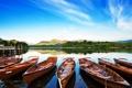 Картинка вода, пейзаж, природа, озеро, лодки, причал