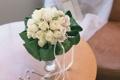 Картинка цветы, розы, букет, белые, свадебный