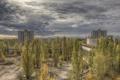 Картинка осень, тучи, пасмурно, Чернобыль, Припять, Украина