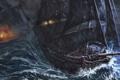 Картинка море, корабли, арт, битва, парусники