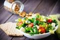 Картинка зелень, орехи, nuts, салат, bread, greens, salad
