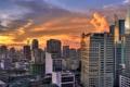 Картинка город, рассвет, дома, Philippines