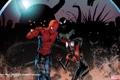 Картинка комикс, Человек-паук, Marvel, comics, Spider-Man, страх, двое