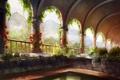 Картинка цветы, красота, арт, живопись, art, Castle Garden