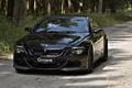 Картинка дорога, лес, чёрный, BMW, G-Power