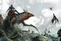 Картинка дракон, монстр, арт, пегас, нежить