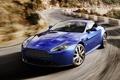 Картинка car, Aston Martin, Vantage, blue, speed