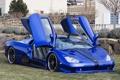 Картинка машина, синий, двери, supercar, blue, SSC, Ultimate Aero
