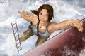 Картинка девушка, игра, рисунок, лестница, Tomb Raider, lara croft