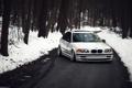 Картинка E46, бмв, BMW, белая, зима, лес, 323