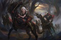 Картинка девушка, кони, погоня, Дикая Охота, Ведьмак, Witcher, The Witcher 3: Wild Hunt