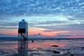 Картинка закат, пейзаж, маяк, море