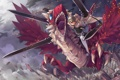Картинка полет, оружие, аниме, арт, мечи, парень дракон, ubel blatt