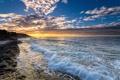 Картинка закат, побережье, Испания, Spain, Valencia, Средиземное море, Alicante