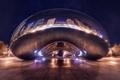 Картинка город, вечер, Чикаго, монумент