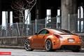 Картинка оранжевый, сетка, тюнинг, забор, Nissan, ниссан, 350Z