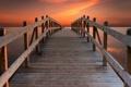 Картинка закат, мост, небо