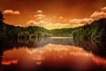 Картинка природа, отражение, ели, водоём, Sandra Dombrovsky