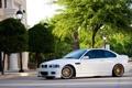 Картинка e46, gold, фонари, золотые, вид сбоку, wheels, white