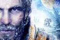 Картинка взгляд, снег, скалы, кровь, планеты, станция, борода