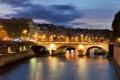 Картинка город, река, Франция, Париж, дома, France, мост.