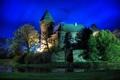 Картинка небо, деревья, ночь, замок, башня, Германия, krefeld