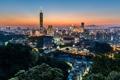 Картинка весна, вечер, Тайвань, Тайбэй, Taipei 101