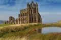 Картинка Англия, развалины, руины, England, Северный Йоркшир, North Yorkshire, Аббатство Уитби