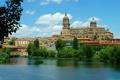 Картинка город, река, фото, дома, Испания, Salamanca