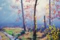 Картинка АРТ, РИСУНОК, ARTSAUS, MORNING FOREST LIGHT