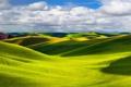 Картинка природа, холмы, поля, Пейзаж, солнечный свет