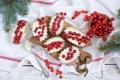 Картинка ягоды, десерт, красная смородина