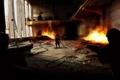 Картинка оружие, огонь, человек, арт, солдаты, лазеры, прицел
