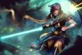 Картинка League of Legends, fan art, jedi, fiora, Grand Duelist