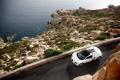 Картинка скалы, берег, тачки, Bugatti, Grand, Veyron, cars