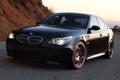 Картинка BMW, Закат, Дорога, Черная, Холм, Авто, БМВ