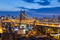 Картинка Нью-Йорк, ночной город, Manhattan, NYC, New York City, Queensboro Bridge, Мост Куинсборо