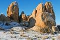 Картинка небо, снег, камни, скалы