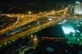 Картинка ночь, город, огни, дороги