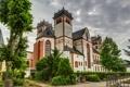 Картинка HDR, фото, Trier Sankt Mathias, монастырь, собор, храм, город