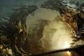 Картинка город, скалы, мост, ступеньки, дракон, огни