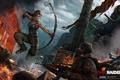 Картинка девушка, луг, автомат, бандиты, Tomb Raider, калаш, Расхитительница гробниц