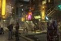 Картинка город, улица, провода, робот, искры, дымка, лэп