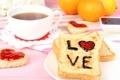 Картинка чай, апельсины, кружка, love, напиток, джем, тосты