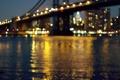 Картинка вода, свет, ночь, город, огни, боке, перешарп