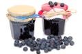 Картинка ягоды, черника, банки, варенье, banks, berries, jam
